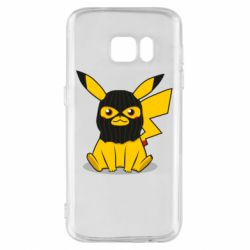 Чохол для Samsung S7 Pikachu in balaclava