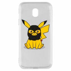 Чехол для Samsung J3 2017 Pikachu in balaclava