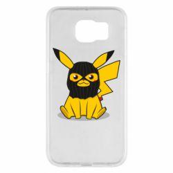 Чохол для Samsung S6 Pikachu in balaclava