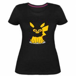 Жіноча стрейчева футболка Pikachu in balaclava