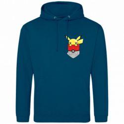 Мужская толстовка Pikachu in pocket - FatLine