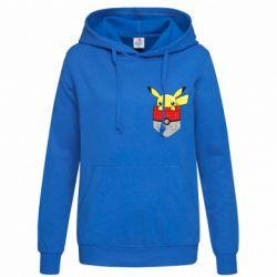 Женская толстовка Pikachu in pocket - FatLine