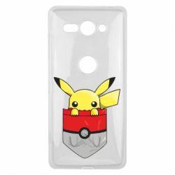 Купить Чехол для Sony Xperia XZ2 Compact Pikachu in pocket, FatLine