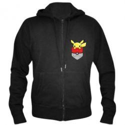 Мужская толстовка на молнии Pikachu in pocket - FatLine