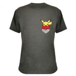 Камуфляжная футболка Pikachu in pocket - FatLine
