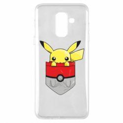 Купить Pokemon GO, Чехол для Samsung A6+ 2018 Pikachu in pocket, FatLine
