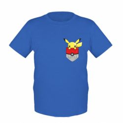 Детская футболка Pikachu in pocket - FatLine