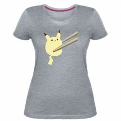 Жіноча стрейчева футболка Pikachu in the sticks