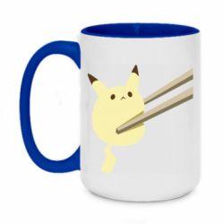 Кружка двоколірна 420ml Pikachu in the sticks