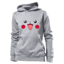 Женская толстовка Pikachu Smile - FatLine