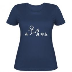 Женская футболка Пинать
