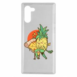 Чехол для Samsung Note 10 Pineapple and Pizza