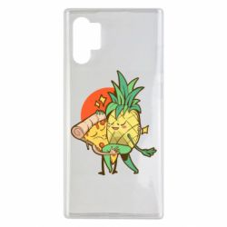 Чехол для Samsung Note 10 Plus Pineapple and Pizza