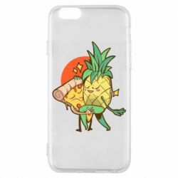 Чехол для iPhone 6/6S Pineapple and Pizza