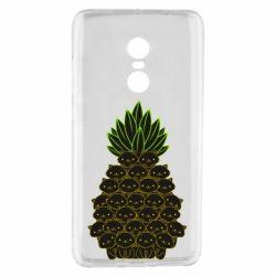 Чехол для Xiaomi Redmi Note 4 Pineapple cat