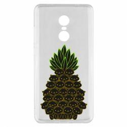 Чехол для Xiaomi Redmi Note 4x Pineapple cat