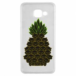 Чехол для Samsung A3 2016 Pineapple cat