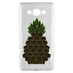 Чехол для Samsung A5 2015 Pineapple cat