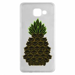 Чехол для Samsung A5 2016 Pineapple cat