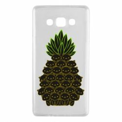 Чехол для Samsung A7 2015 Pineapple cat