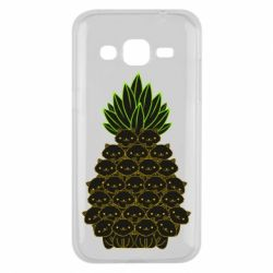 Чехол для Samsung J2 2015 Pineapple cat