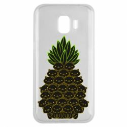 Чехол для Samsung J2 2018 Pineapple cat
