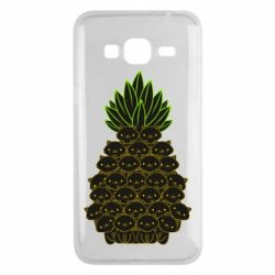 Чехол для Samsung J3 2016 Pineapple cat