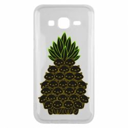 Чехол для Samsung J5 2015 Pineapple cat