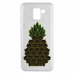 Чехол для Samsung J6 Pineapple cat