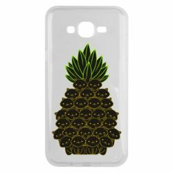 Чехол для Samsung J7 2015 Pineapple cat