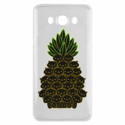 Чехол для Samsung J7 2016 Pineapple cat