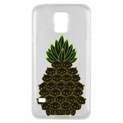 Чехол для Samsung S5 Pineapple cat