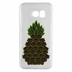 Чехол для Samsung S6 EDGE Pineapple cat