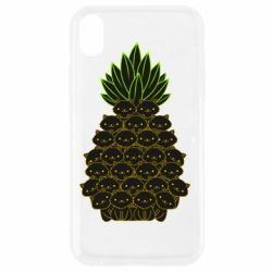 Чехол для iPhone XR Pineapple cat