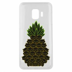Чехол для Samsung J2 Core Pineapple cat