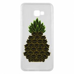 Чехол для Samsung J4 Plus 2018 Pineapple cat