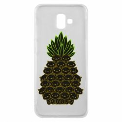Чехол для Samsung J6 Plus 2018 Pineapple cat