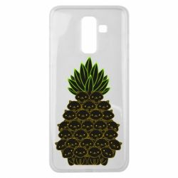 Чехол для Samsung J8 2018 Pineapple cat