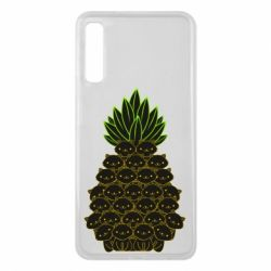 Чехол для Samsung A7 2018 Pineapple cat