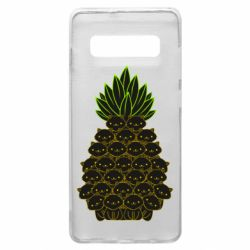 Чехол для Samsung S10+ Pineapple cat