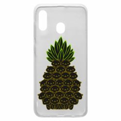 Чехол для Samsung A20 Pineapple cat