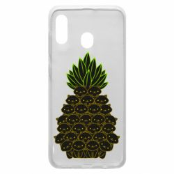 Чехол для Samsung A30 Pineapple cat