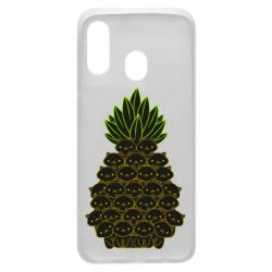 Чехол для Samsung A40 Pineapple cat