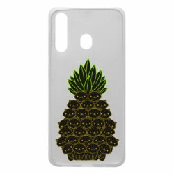 Чехол для Samsung A60 Pineapple cat