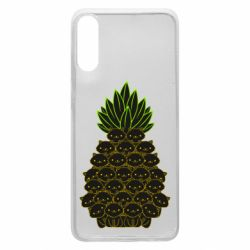 Чехол для Samsung A70 Pineapple cat