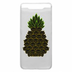 Чехол для Samsung A80 Pineapple cat