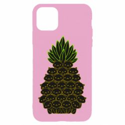 Чехол для iPhone 11 Pineapple cat