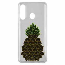 Чехол для Samsung M40 Pineapple cat
