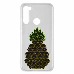 Чехол для Xiaomi Redmi Note 8 Pineapple cat