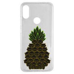 Чехол для Xiaomi Redmi Note 7 Pineapple cat